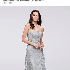 Oleg Cassini OC290028 long bridesmaid dress mystic
